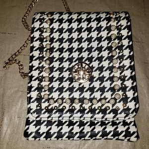 None Bags - Black and white check crossbody